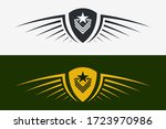 winged shield emblem. military... | Shutterstock .eps vector #1723970986
