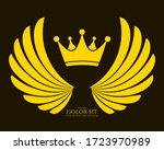 winged emblem for your company. ... | Shutterstock .eps vector #1723970989