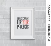realistic frame. perfect for... | Shutterstock .eps vector #172399010