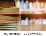 Stack Of Books In The Library...