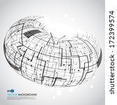 abstract technology globe | Shutterstock .eps vector #172399574
