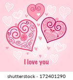 valentine's day background ... | Shutterstock .eps vector #172401290