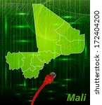 map of mali with borders in... | Shutterstock . vector #172404200