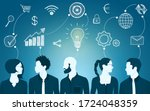 sharing ideas and technology... | Shutterstock .eps vector #1724048359