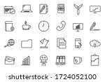 set workspace icon template for ... | Shutterstock .eps vector #1724052100