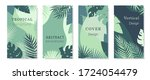 green tone tropical theme... | Shutterstock .eps vector #1724054479