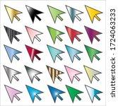 courser pointer icon set color... | Shutterstock .eps vector #1724063233