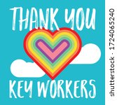 thank you uk key essential... | Shutterstock .eps vector #1724065240