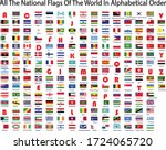 world national flags in... | Shutterstock .eps vector #1724065720