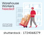 warehouse workers needed poster ... | Shutterstock .eps vector #1724068279