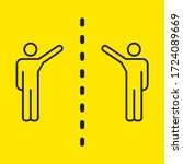 Social Distancing Pictogram....