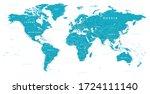world map political   vector... | Shutterstock .eps vector #1724111140