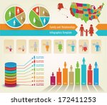 infographics of family tree and ... | Shutterstock .eps vector #172411253