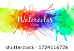 bright and colorful watercolor... | Shutterstock .eps vector #1724116726