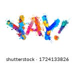 word yay  sign of splash paint... | Shutterstock .eps vector #1724133826