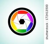 colorful camera shutter lens ... | Shutterstock .eps vector #172413500
