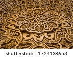 details of the alhambra ... | Shutterstock . vector #1724138653