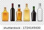 alcohol realistic drink bottles ... | Shutterstock .eps vector #1724145430