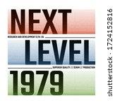 next level stylish typography... | Shutterstock .eps vector #1724152816