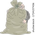 fat corrupt official hugging a... | Shutterstock .eps vector #1724157436