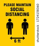please maintain social... | Shutterstock .eps vector #1724158360