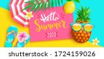 hello summer 2020 bright... | Shutterstock .eps vector #1724159026
