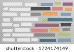 white and colorful different... | Shutterstock .eps vector #1724174149