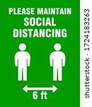please maintain social...   Shutterstock .eps vector #1724183263