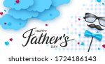 happy fathers day banner with... | Shutterstock .eps vector #1724186143