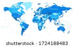 world map political   blue and... | Shutterstock .eps vector #1724188483
