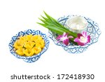 kanom thong yib is an ancient... | Shutterstock . vector #172418930