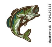 bass fish fishing vector illustration design isolated on white background