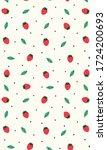 strawberry pattern  pink...   Shutterstock .eps vector #1724200693