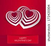 love card happy valentines day... | Shutterstock . vector #172420304