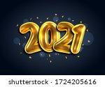 2021  happy new year banner.... | Shutterstock .eps vector #1724205616