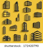 buildings flat design web icons ... | Shutterstock .eps vector #172420790