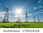 High Voltage Lines And Pylons...