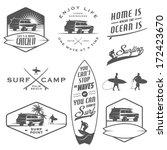set of vintage surfing labels ... | Shutterstock .eps vector #172423670