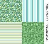 set of seamless patterns.... | Shutterstock .eps vector #1724237089
