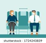 passengers wearing protective... | Shutterstock .eps vector #1724243839