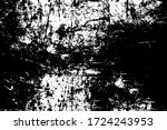 grunge black and white texture. ... | Shutterstock .eps vector #1724243953