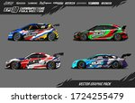 sport car wrap decal designs... | Shutterstock .eps vector #1724255479