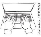 linear hands on a laptop...