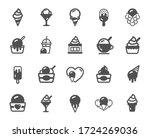 ice cream icons. vanilla sundae ... | Shutterstock .eps vector #1724269036