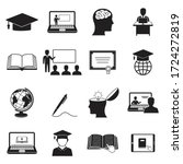 learning icons. online... | Shutterstock .eps vector #1724272819
