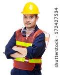 asian construction worker | Shutterstock . vector #172427534