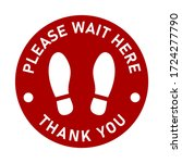 please wait here thank you keep ... | Shutterstock .eps vector #1724277790