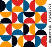 half circle seamless pattern....   Shutterstock .eps vector #1724281303