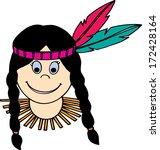woman native american indian   Shutterstock .eps vector #172428164