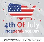 happy fourth of july.... | Shutterstock .eps vector #1724286139